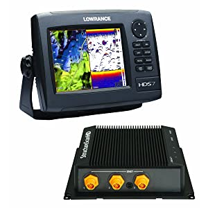 Lowrance HDS-7 GEN2 Plotter/Sounder, with 6.4-inch LCD, Insight USA Cartography, LSS-2 StructureScan, and Two Transducers.