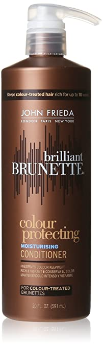 John Frieda Brilliant Brunette Colour Protecting Conditioner, 20 Fluid Ounce
