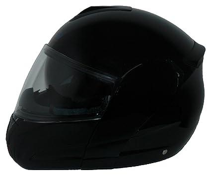 Protectwear kH-v210-gL-casque intégral de moto taille casque à visière avec pare-soleil intégrée noir brillant