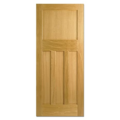 LPD DX Internal Oak Door - Dowel - 4 Panels - H 78in x W 33in x D 35mm