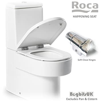 Roca Happening Replacement White WC Toilet Seat with Soft Close ...