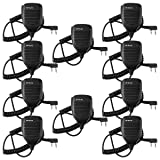 Retevis 2 Pin Speaker Mic Compatible with Baofeng UV-5R BF-888S BF-F8HP Kenwood Retevis H-777 RT21 RT22 RT27 H-777S Walkie Talkies (10 Pack)