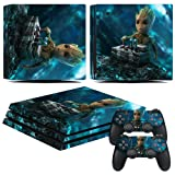 EBTY-Dreams Inc. - Sony Playstation 4 Pro (PS4 Pro) - Marvel Guardians Of The Galaxy Mini Groot Vinyl Skin Sticker Decal