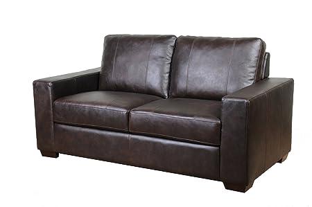 Westport Home Hayward Leather Loveseat, Java