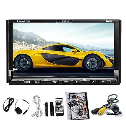 Écran tactile de 7 pouces motorisé pour tableau de bord Automobile Audio/Video Lecteur DVD voiture avec Système de Navigation GPS tête unité de fonction Radio stéréo Lecteur MP3/MP4