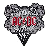 AC/DC Black Ice Music Rock Band Embroidered Back Patch Iron On (13.2