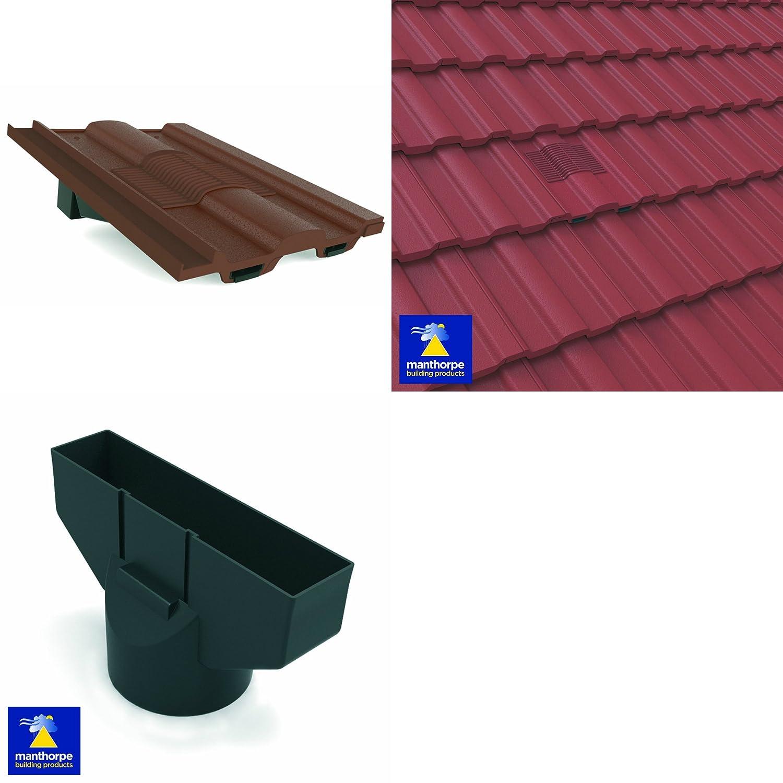 Roof Tile Vent Adaptor Roof In-line Tile Vent