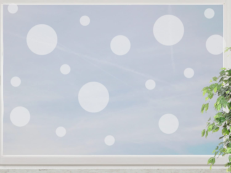 wandfabrik – Fenstersticker Punkte im Polka Dot Style 75 Stk – frosty – 798 – (Xt) günstig