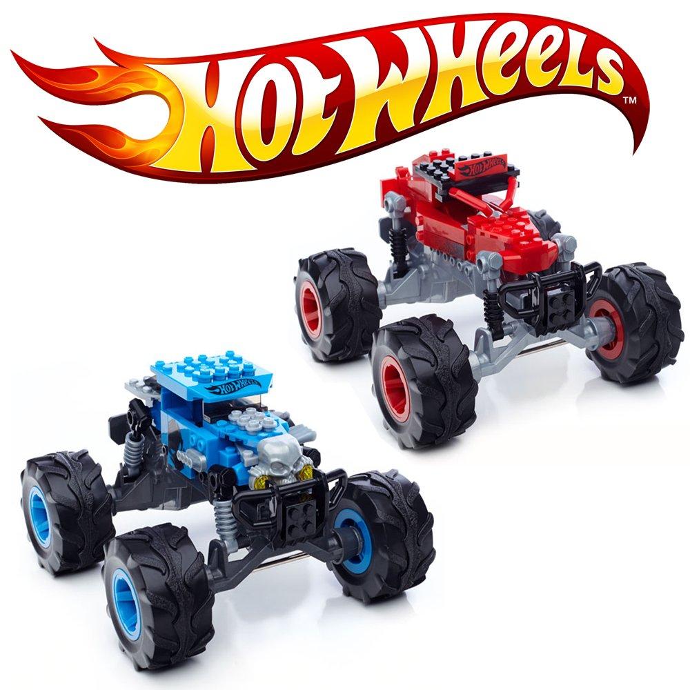 Mega Bloks Hot Wheels Spar Paket – 2 x Monstertruck Baja Bone Shaker & Dune it up, über 130 Teile günstig als Geschenk kaufen