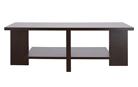 Furniture of America Parke Rectangular Coffee Table, Cappuccino