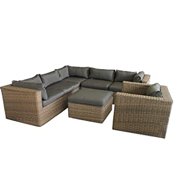 lounge gartengarnitur gartenm bel minnesota sitzgruppe sitzgarnitur sitzlandschaft polyrattan. Black Bedroom Furniture Sets. Home Design Ideas