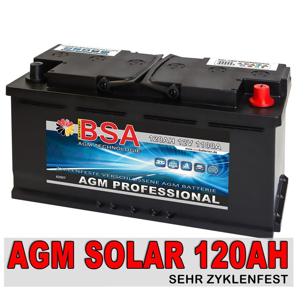 Solarbatterie 120Ah 12V Versorgungsbatterie AGM GEL Wohnmobil Batterie 100AH  BaumarktKritiken und weitere Infos