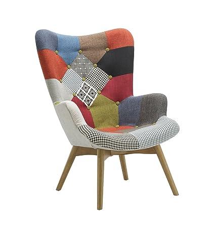 Birlea Sloane einfach Kamin Stuhl skandinavischen moderne Retro Patchwork Sessel
