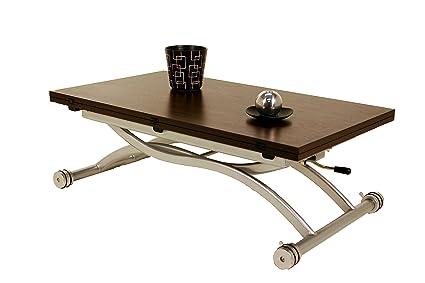 TABLE BASSE RELEVABLE PAR PISTON A GAZ MIRAGE WENGE
