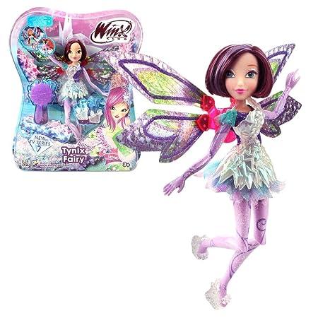 Winx Club - Tynix Fairy - Tecna Poupée 28cm avec magique Robe