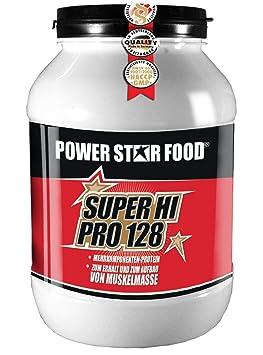 SUPER HI PRO 128, Top-Protein, 1200g Dose, Protein-Bestseller von höchster biologischen Wertigkeit 128, Geschmack: Himbeer-Sahne