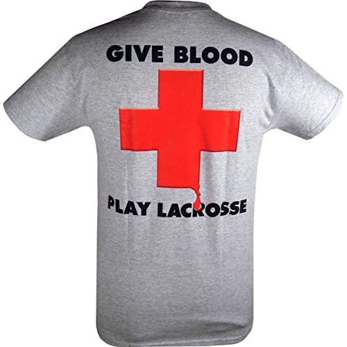 Give Blood - Play Lacrosse T-Shirt