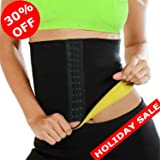 SAYFUT Hot Thermo Sweat Neoprene Shapers Slimming Belt for Weight Loss (Color: Black, Tamaño: L/(Waist 27.5-29.5inch))