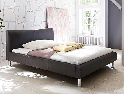 Polsterbett Bett Rina braun Kunstleder Ehebett Bett Doppelbett Bettgestell Kunstleder , Liegefläche:120 x 200 cm