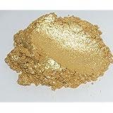 42g/1.5oz DIAMOND GOLD Mica Powder Pigment (Epoxy,Paint,Color,Art) Black Diamond Pigments by CCS (Color: Gold, Sparkle, Glitter)