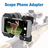 Bestguarder Hunting Scope Cam Adapter Rifle Scope Phone Camera Mounting System Smart Shoot Scope Mount Adapter Spotting Holder for Air Gun Scope - Record Hunt Via Cell Phone (Aluminium Alloy)
