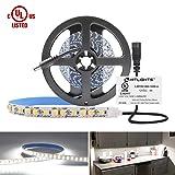 HitLights Neutral White LED Light Strip, Premium 2835-10 Feet, 360 LEDs, 4000K, 828 Lumens 5.6 Watt/Foot. UL-Listed. 12V DC Tape Light (Color: Neutral White, Tamaño: Neutral White High Density 828Lumens /ft)