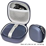 Midnight Blue Protective Case for Bose SoundLink Micro Bluetooth Speaker, Best Color and Shape Matching, Featured Secure and Easy Pulling Out Strap Design, Mesh Pocket for Cable and accessorie (Color: Midnight Blue)