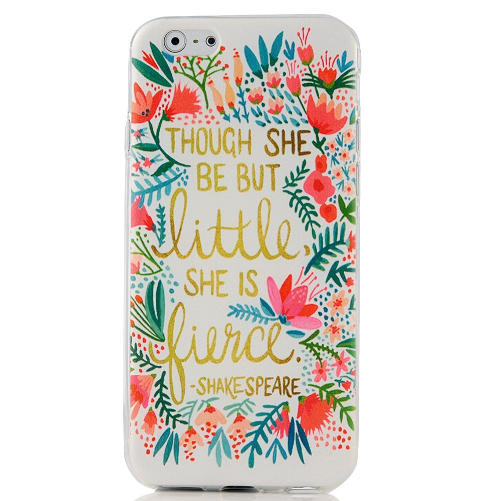 Fashion Style Colorful Painted Red Flowers Pattern TPU Soft Cover Case for iPhone 6 4.7''