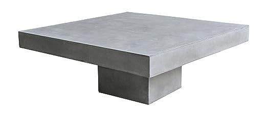SIT-Möbel 9973-13 Couchtisch Cement, 80 x 80 x 36 cm, leichtbeton, grau