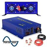 2500 Watt Pure Sine Wave Inverter 12V DC to 120V AC, 2500W Power Invert Surge 5000W Power Converter for Solar System. (2500W 12V 120V) (Color: Blue, Tamaño: 2500W/12V)