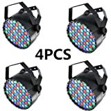 XPC LED Stage Lights 4pcs 54X3W LEDs RGBW Sound Activated DJ PAR Lights Uplights For Christmas Wedding Party Lighting (Color: 4Pack)