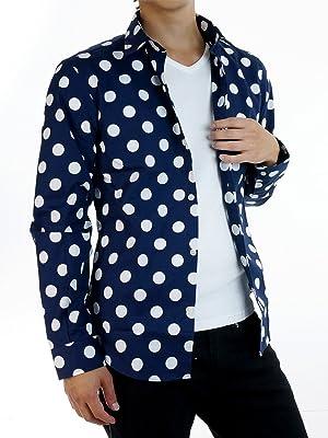 MensNare ドット柄 ドレスシャツ メンズ 日本製 804032