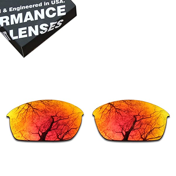 a4c00ddb76 ToughAsNails Polarized Lens Replacement for Oakley Flak Jacket Sunglass -  More Options (Color  Fire Orange