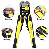 Wire Cutter, WYCTIN Self Adjusting Automatic Cable Wire Cutter Crimper Cutting Pliers Tool for Industry 10-24 AWG