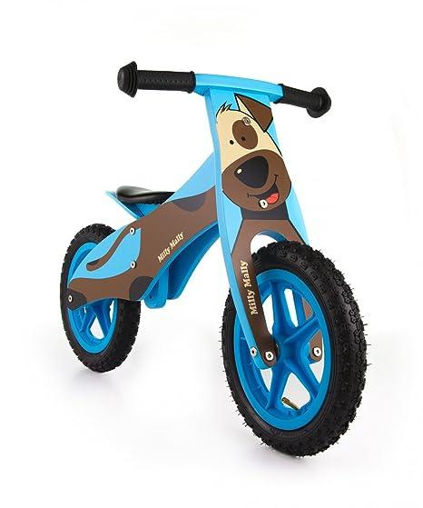 Draisienne - vélo en bois pour bébé - vélo de marche sans pedale Bicycle de balance, Duplo/Flip:Chien brun