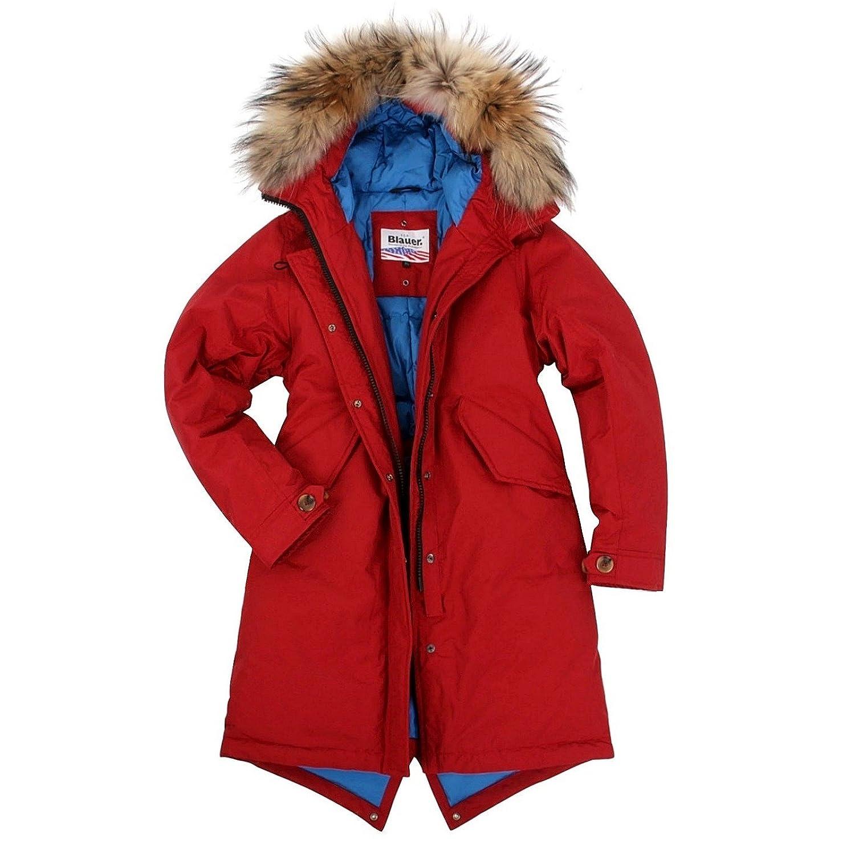 Blauer USA Damen Daunenmantel Parka Daunen Mantel Jacke Winter-Jacke, Daunenparka mit Echt-Fell Kapuze, in den Größen: Gr.S (36/38), M (40/42), L (44/46), XL (48)