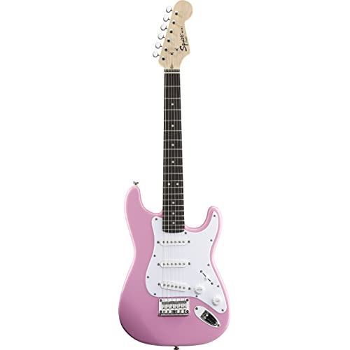 Fender Squier Mini Stratocaster Electric Guitar, Pink