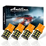 Antline 7443 7440 T20 992 7441 7444 W21W LED Bulbs Amber Yellow, 12-24V Super Bright 1000 Lumens Replacement for Turn Signal Blinker Lights, Side Marker Lights (Pack of 4) (Color: yellow, Tamaño: 7443)