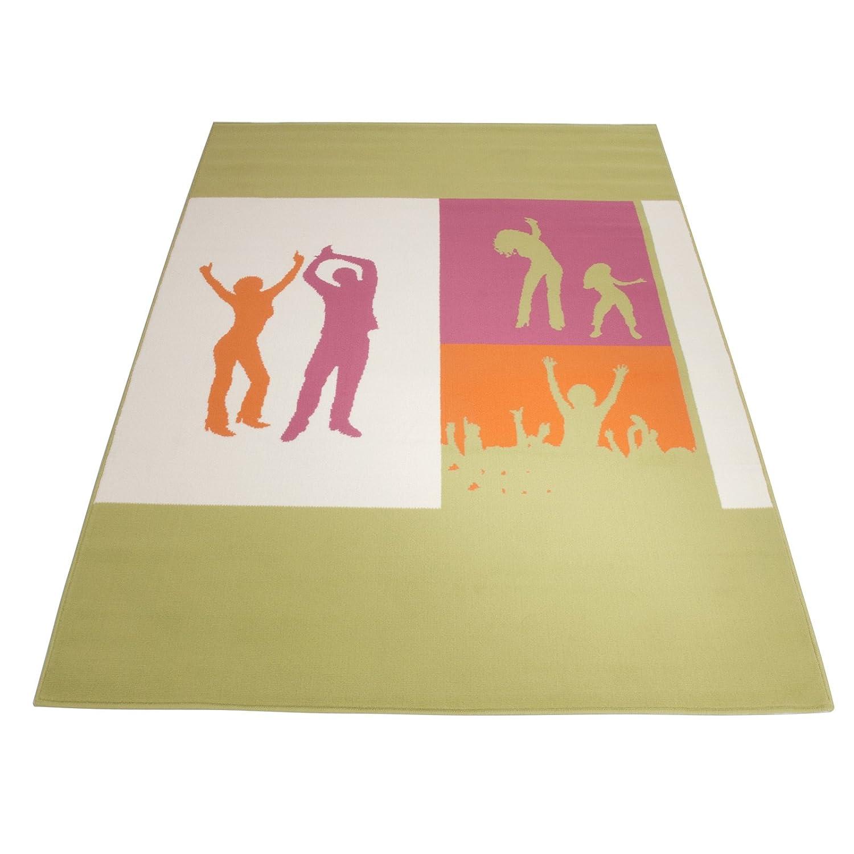 Floori Kurzflorteppich Joy Happy Dance – 160x225cm, grün jetzt bestellen
