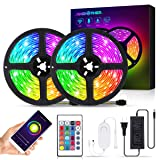 AMBOTHER LED Strip Lights 32.8-feet Wireless Smart Phone APP Remote Controller 300 LEDs Color Changing Kit Work with Alexa Google Assistant Music Sync Neon RGB Rope Lights (Color: Multicolor, Tamaño: 32.8ft)
