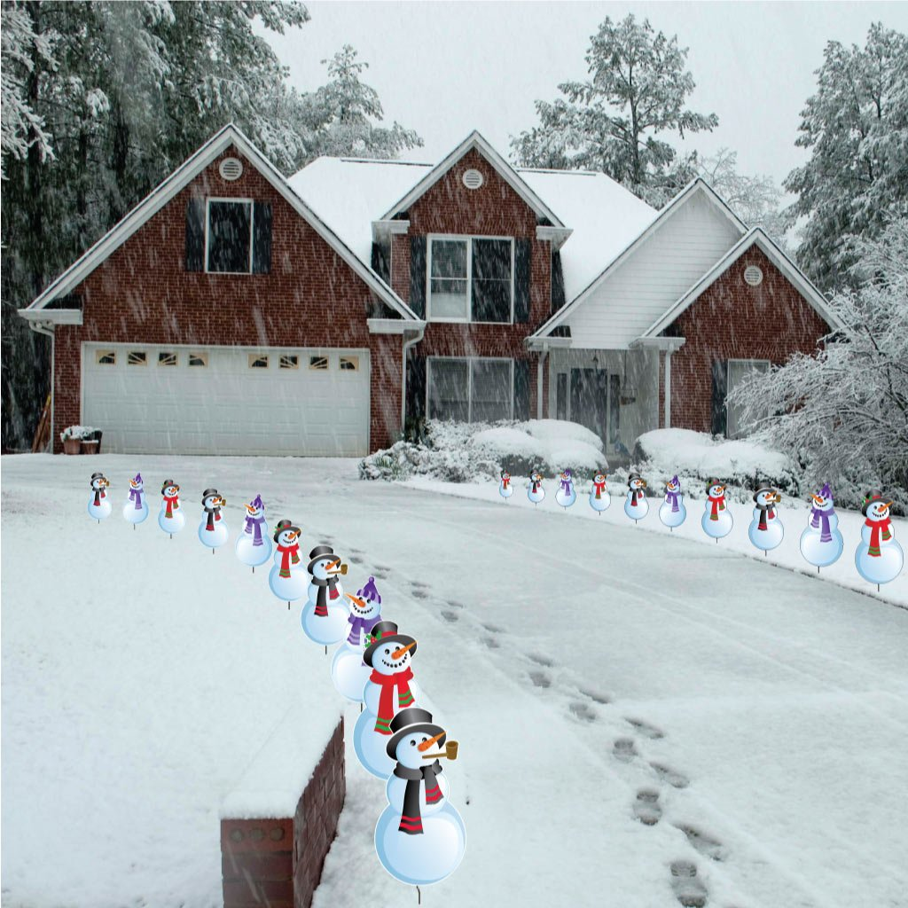 Snowman Pathway Lights | Christmas Wikii