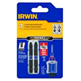 IRWIN 1903509 Impact Performance Series Double-Ended Screwdriver Power Bit, Number 2 Phillips and 8-10 Slotted, 2 3/8-Inch, 3-Piece (Tamaño: Pack of 1)