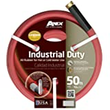 Apex, 8695-50, Commercial All Rubber Hot and Cold Water Hose,  5/8-Inch by 50-Feet (Color: red, Tamaño: 5/8-Inch by 50-Feet)