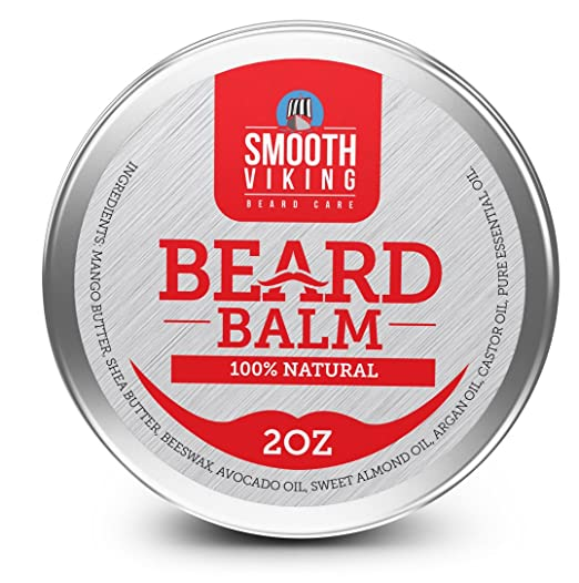 Beard Balm for Men- Heavy Duty Leave-In Wax Beard Conditioner- Combine With Beard Oil for Best Results- Styles, Strengthens & Thickens Bearded Men Without a Comb, Brush or Trimmer! Perfect for Beard Growth & Grooming- With Shea Butter, Argan Oil & More