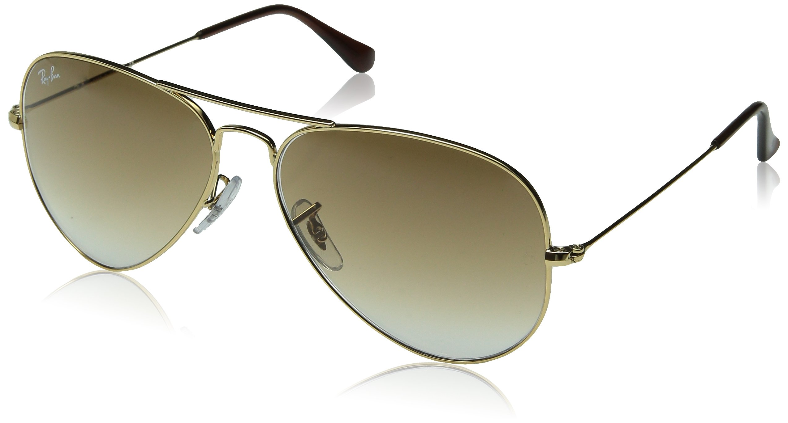 ray ban aviator rb3025 gold frame brown gradient lens