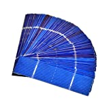 Aoshike 50pcs 0.5V 0.5A 78x19mm/3x0.75inches Solar Cells For Solar Panels Polycrystalline Silicon Micro mini Solar Panel Solar Cell DIY Charger Battery
