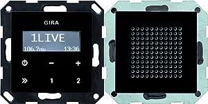 Gira 228005 Unterputz Radio RDS System 55, schwarzglasoptik  BaumarktKundenbewertung und weitere Informationen
