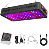 Phlizon Newest 600W LED Plant Grow Light,with Thermometer Humidity Monitor,with Adjustable Rope,Full Spectrum Double Switch Plant Light for Indoor Plants Veg and Flower- 600W(10W LEDs 60Pcs) (Color: 600W)