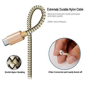 USB Type C Charging Cable, 2Pack 10FT Nylon Braided USB C Charger Cable Fast Sync Charging Cord for Samsung Galaxy Note 8,S8 Plus,LG V30 V20 G6 G5,Goo