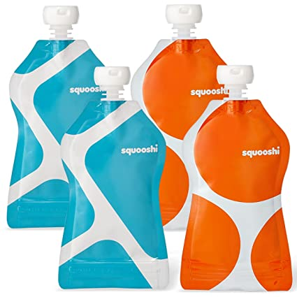 Amazon.com : Squooshi G.O. Reusable Food Pouch & Choomee Sip'n Combo Pack : Baby